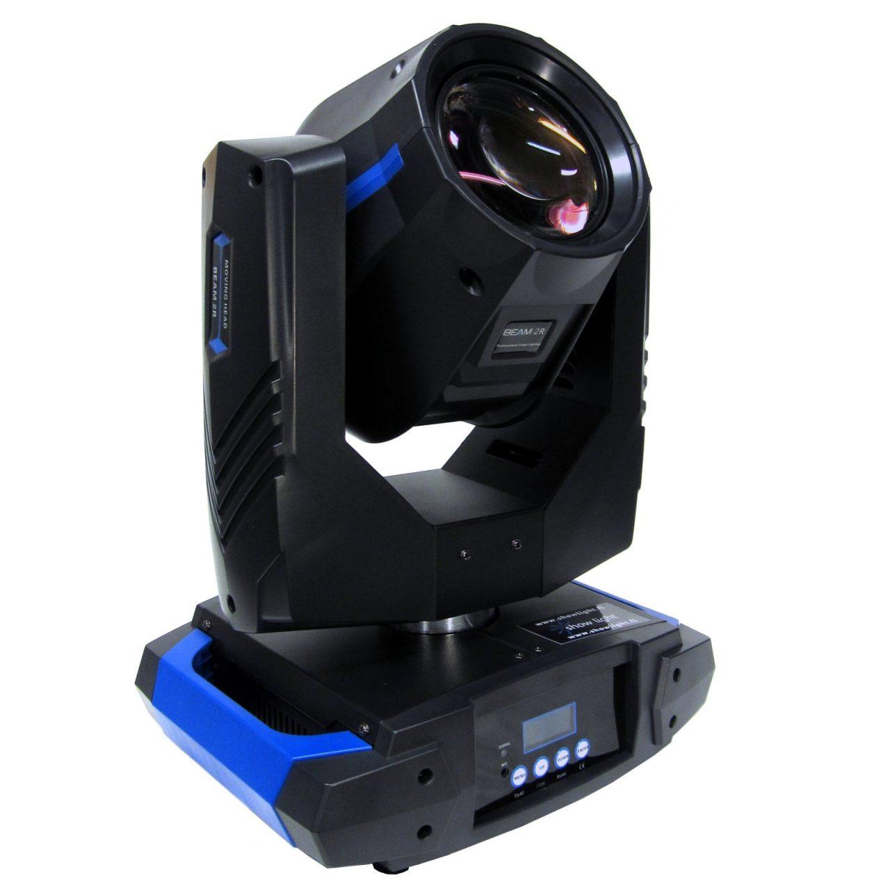 Hi-LTTE Beam Moving Head 2R - Valovoimainen ja kevyt kiilakone. Paino vain 8,9 kg!14 väriä, 15 goboa,8-kulmainen prisma prisman pyörityksellä ja moottorisoitu focus.