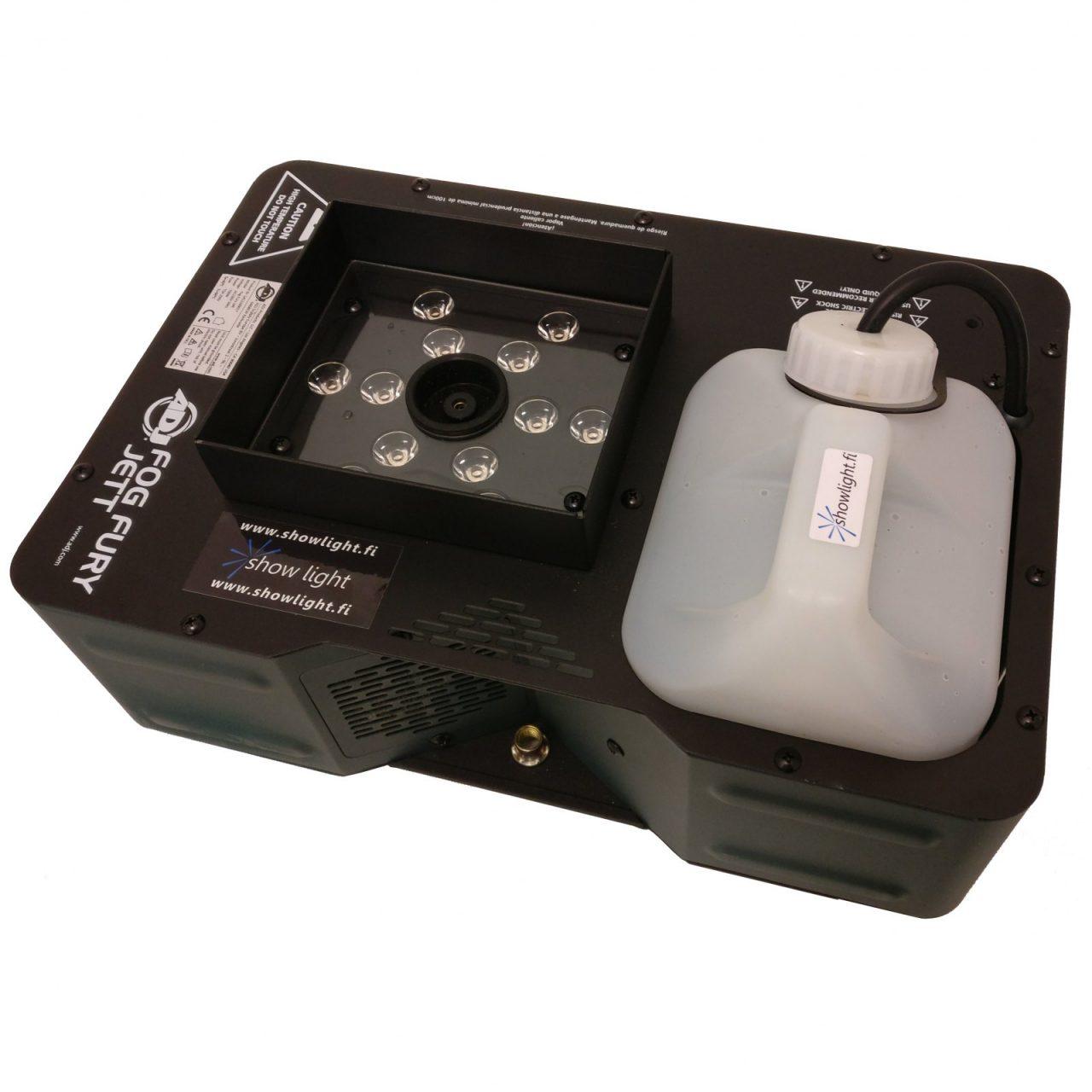 Co2 savukone-efekti (sis. 2,5l neste) - Co2 LED savukone-efekti, paketti sisältää 2,5l nopeasti haihtuvaa nestettä