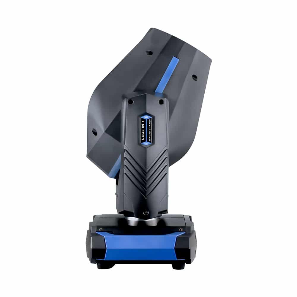 Hi-LTTE 150W LED BSW 3in1 - Kompakti ja tehokas 150W LED BSW moving head. Paino 10,3 kg. Kiilan leveys 8° - 30° (37° frost filterillä).
