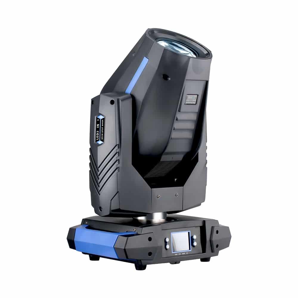 Hi-LTTE 150W LED BSW 3in1 - Kompakti ja tehokas 150W LED BSW moving head. Paino 10,3 kg. Kiilan leveys 8° - 18° (30° prismalla, 37° frost filterillä).