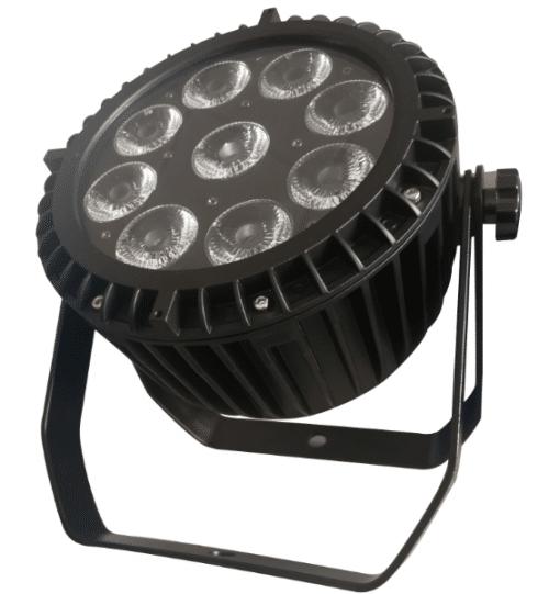 showlight - LumiWASH 9 RGBWAUV BA IP65 - Battery powered LED wash light with WDMX. IP65.