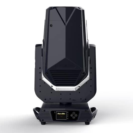 Favolite F-500S Pro - Erittäin laadukas ja valovoimainen 300W LED spotti CMY värisekoituksella. Paino 20kg. Kiilan leveys 9°-35°.